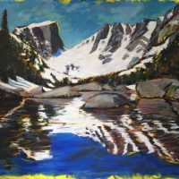 Phyllis Anderson: Sky Snow Rocks Reflection
