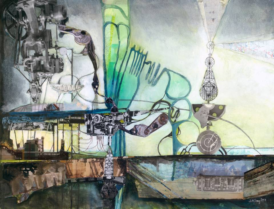 Jen McCleary works are imaginative and dream-like mixed-media and digital collage inspired by science, nature, wonder, and symbolism.