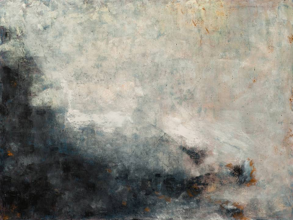 Chris Cox is an abstract artist whose landscape and atmospheric paintings are inspired and informed by aging stone structures she has seen throughout the world.