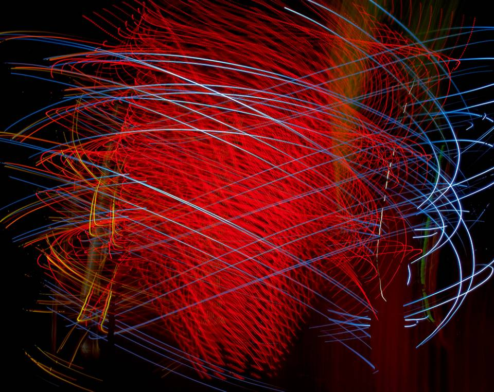 Peter Treiber's abstract expressionistic light painting photographs.