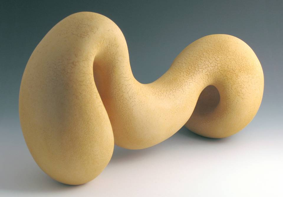 Lisa Graf is a ceramic sculptor and graphic designer. She creates abstract, organic, biomorphic forms in clay.
