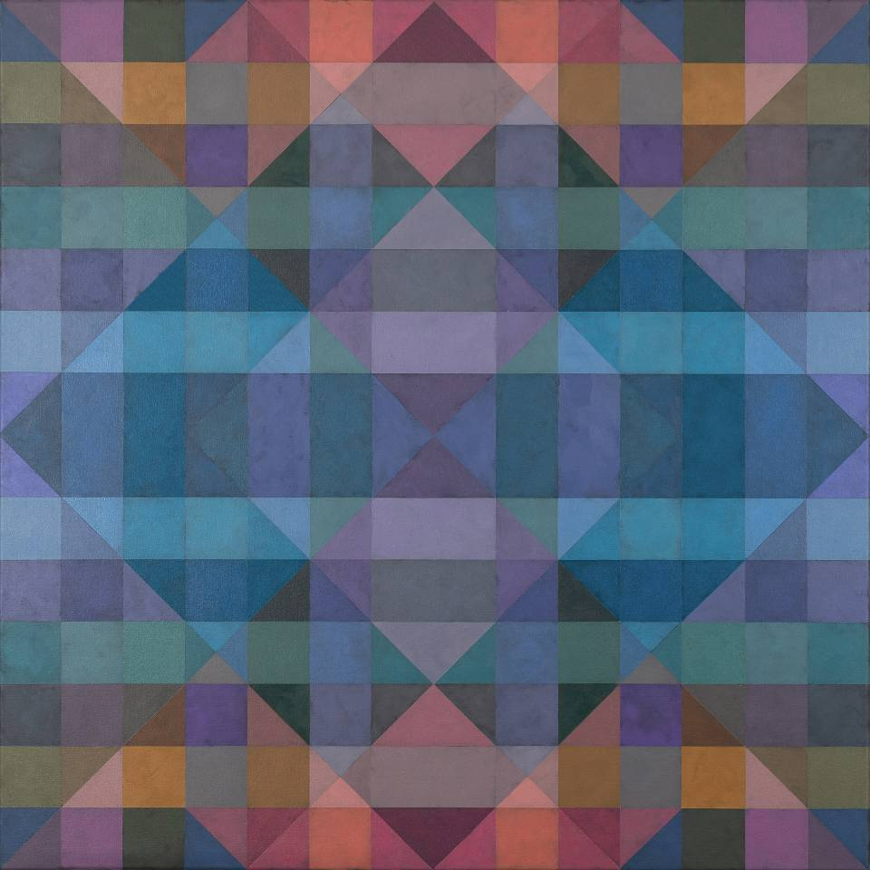 Karen Freedman is recognized for her vibrant abstract geometric paintings that explore the interaction of color and its ability to alter perception.