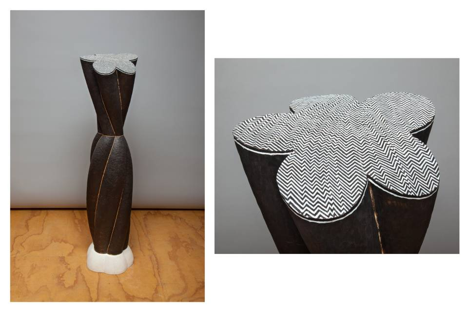 Linda Brenner's sculptures express the inherent structure and order found in nature. Her sculpture uses geometric compositions and references primal imagery, which transcends style or ethnic origin.